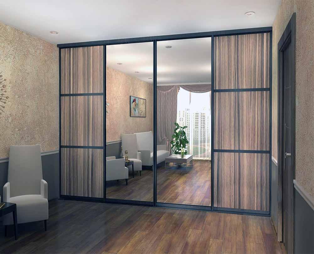 Встроенный шкаф-купе в гостиную, спальню или прихожую